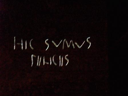 hic sumus felices graffiti pompei