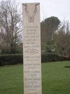 stele studenti padovani- Gianicolo