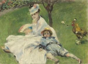 Auguste-Renoir.-Madame-Monet-e-suo-figlio-1874-olio-su-tela-300x220