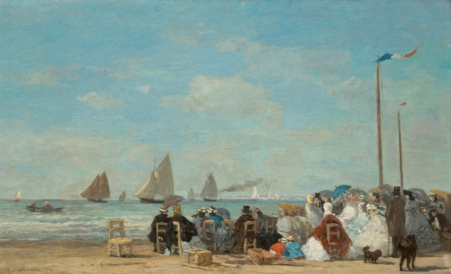 Boudin_Eugene_Spiaggia di Trouville_1863_Washington_National Gallery