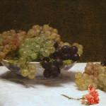 Natura morta con uva e garofano- Henri Fantin-Latour
