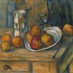 brocca di latte e frutta di Cèzanne