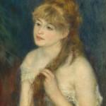 giovane donna che si pettina-renoir