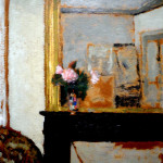 Edouard Vuillard - Vase of Flowers on a Mantelpiece, 1900